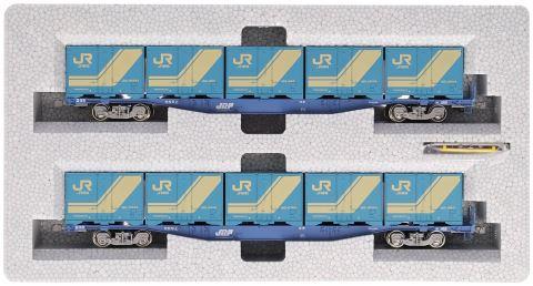 KATO カトー コキ104 18Dコンテナ積載(2両)  3-511【HOゲージ】【鉄道模型】【車両】