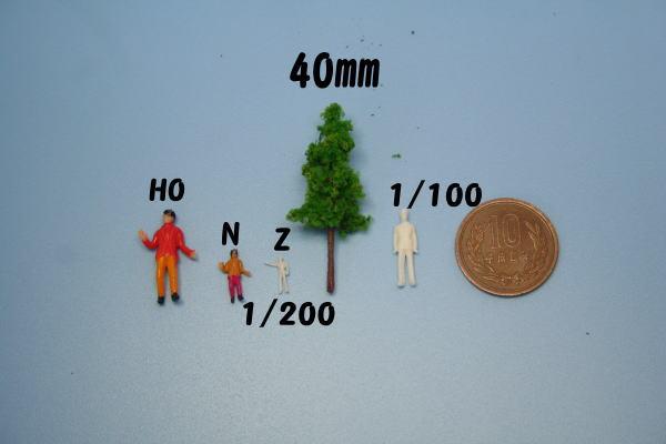 Zゲージ 樹木模型
