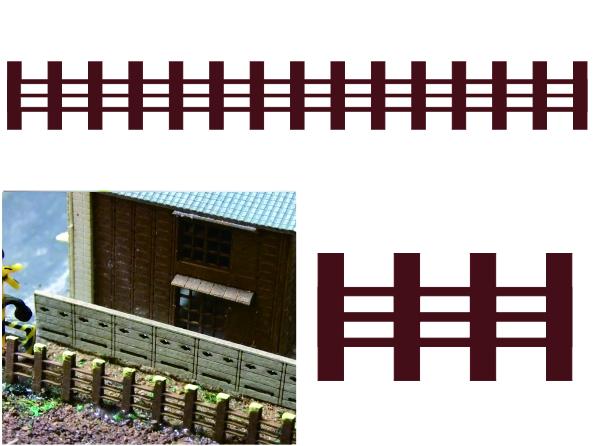 1/200建築模型柵