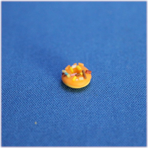オレンジドーナツミニチュア小物