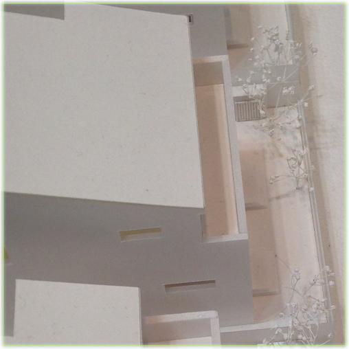 建築模型カスミソウ