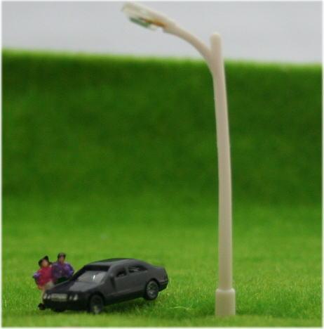 Nゲージ向け模型用照明 一般的 白の街灯模型10本 【再入荷】