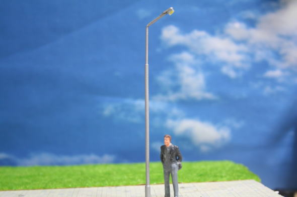 OゲージLED街灯模型