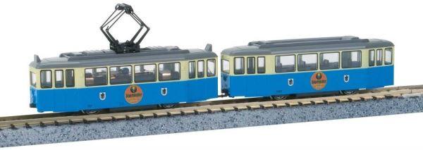 KATO カトー Tram Car 2両セット 青/白 イエガーマイスター広告付 K14633【Nゲージ】【鉄道模型】【車両】