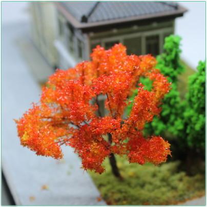 カエデ風紅葉樹木65mm 3本セット 秋のレイアウトはこれ!ジオラマ製作に! 【HOレイアウト用品】【ジオラマ用品】【鉄道模型】