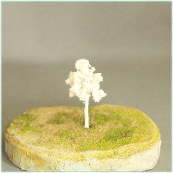 白模型樹木