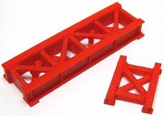 1/150 情景アクセサリー 小鉄橋(赤)【YSK】【鉄道模型】【カラーレジン製】【Nゲージ】【メール便可】