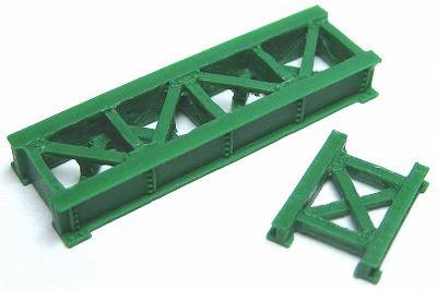 1/150 情景アクセサリー 小鉄橋(緑)【YSK】【鉄道模型】【カラーレジン製】【Nゲージ】【メール便可】