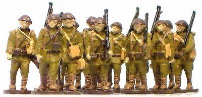 1/144AFV 人形キット 行軍日本兵1【YSK】【鉄道模型】【カラーレジン製】【情景模型】【Nゲージ】