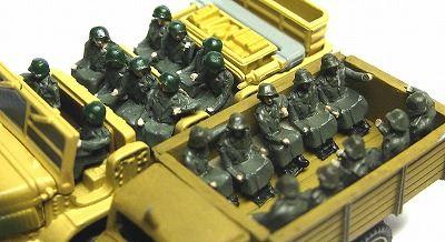 1/144AFV 人形キット ドイツ兵乗車員【YSK】【鉄道模型】【カラーレジン製】【情景模型】【Nゲージ】