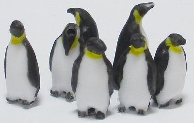 1/100情景アクセサリー ペンギン素材A【YSK】【鉄道模型】【カラーレジン製】【1/100】【ネコポス可】