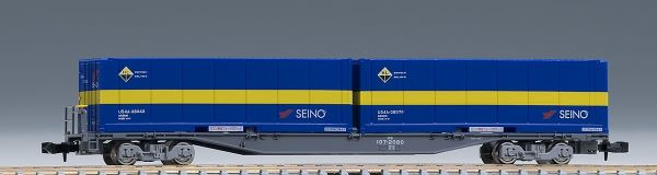 TOMIX トミックス JR貨車 コキ107形(増備型・西濃運輸コンテナ付)  8731【Nゲージ 】【鉄道模型】【車両】
