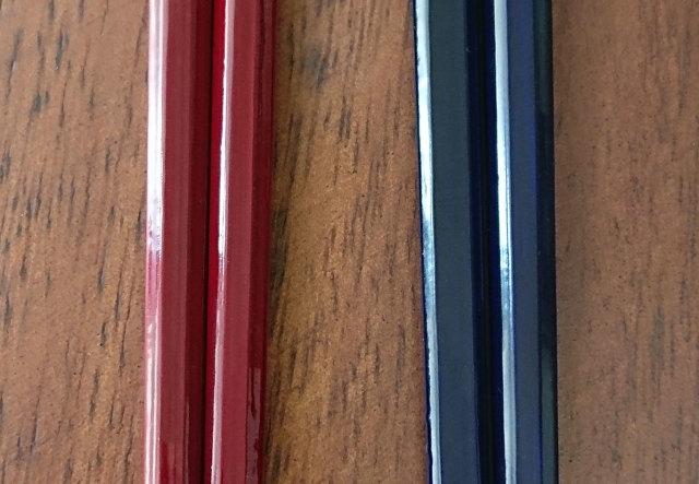八角箸 紺紅