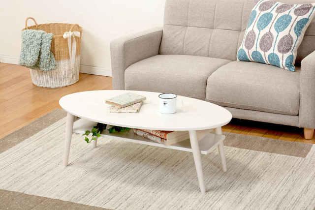 折れ脚テーブル(ホワイトウォッシュ)