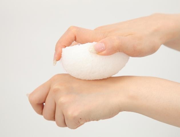 【送料無料】洗顔用こんにゃくパフ『和の力』 白15個セット