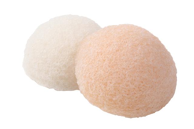 【送料無料】洗顔用こんにゃくパフ『和の力』白と白桃のお試しセット/お1人様2セット限定