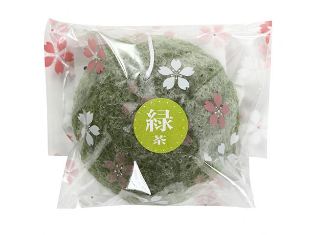 洗顔用こんにゃくパフ『和の力』緑茶