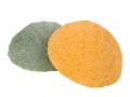 【送料無料】洗顔用こんにゃくパフ『和の力』 緑茶と柚子のお試しセット/お1人様2セット限定