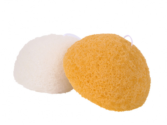 【送料無料】洗顔用こんにゃくパフ『和の力』白とゆずのお試しセット/お1人様2セット限定