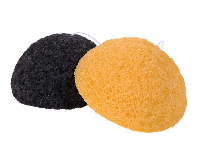 【送料無料】洗顔用こんにゃくパフ『和の力』炭とゆずのお試しセット/お1人様2セット限定