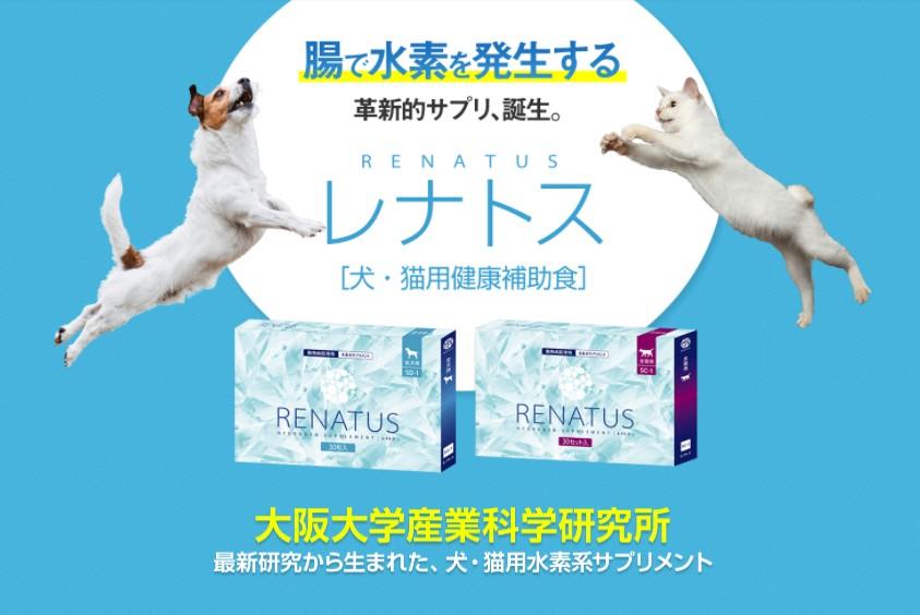 【送料無料】レナトス 犬・猫用 水素サプリ 24時間水素発生 同梱不可