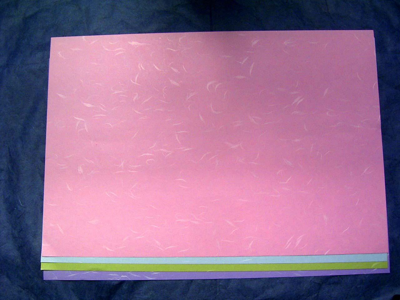 テーブルマット カラー大礼 ピンク 265×390mm 1,000枚入