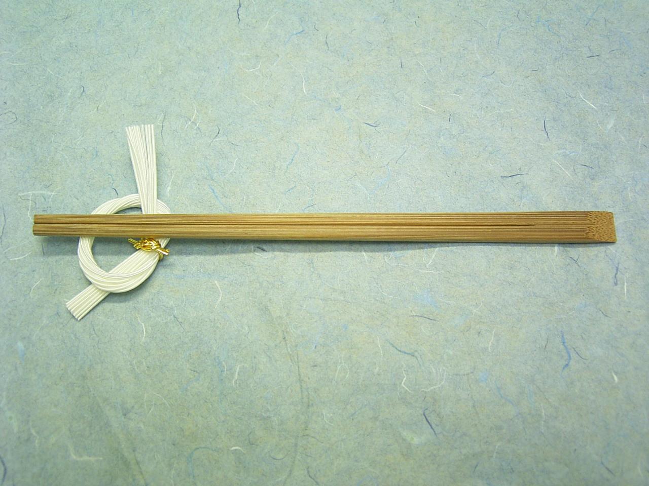 8寸竹箸天削 スス竹 21cm 100膳