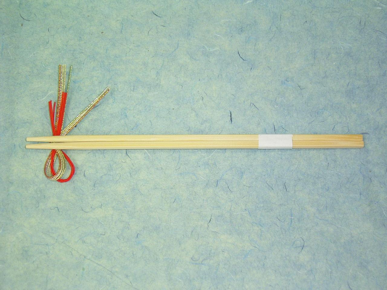 9寸竹角箸 白帯付 24cm 100膳