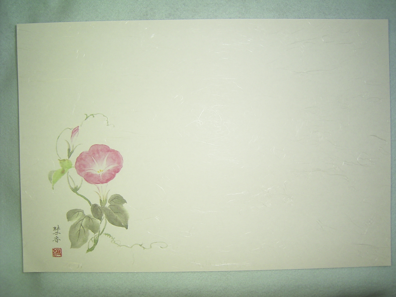 テーブルマット 和風輝「朝顔」 26.5×390mm 100枚