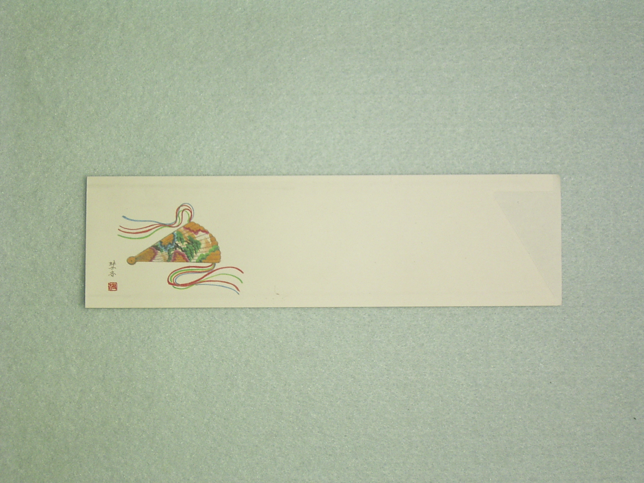 マルチカラー箸袋 既製柄 No.1絵扇 ハカマサイズ 10,000枚