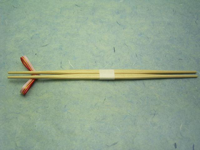 杉箸 らんちゅう 帯巻付 26cm 100膳