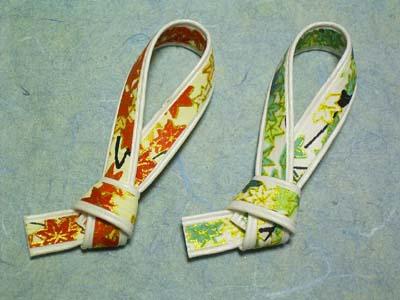 箸置 友禅片結 5組セット(アソート) 2.5cm×6.5cm
