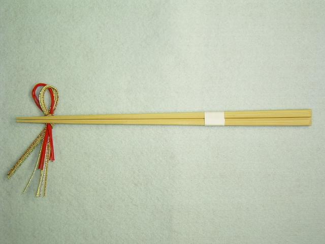 竹持て成し箸 先細天削箸白帯付 23.5cm 100膳