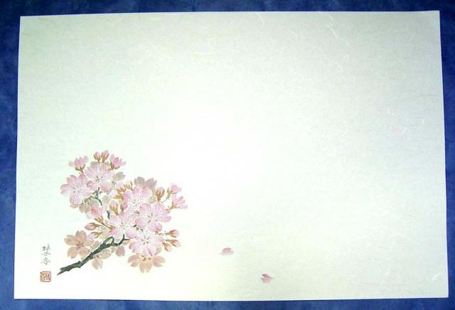 テーブルマット 和風輝「桜」 265×390mm 100枚