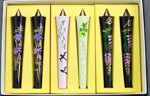 【花の詩・特別柄】  絵ろうそく3号(手描き) 6本入  薫風