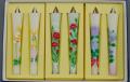 【花の詩・特別柄】 絵ろうそく3号(手描き) 6本入  母の日