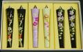 【花の詩・特別柄】 絵ろうそく3号(手描き) 6本入  春の宴