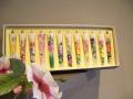 1月~12月までの季節のお花  3号絵ろうそく「四季の花」 (12本入り)
