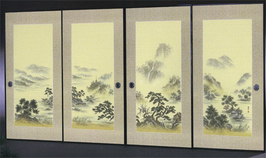 4枚柄織物襖紙 P-1610