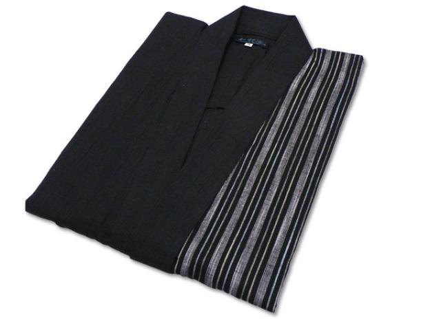 綿麻楊柳デザイン作務衣