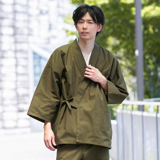武州くちなし染作務衣