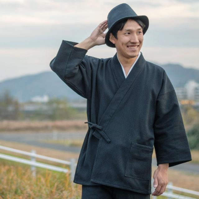 太刺子作務衣 No.2 黒