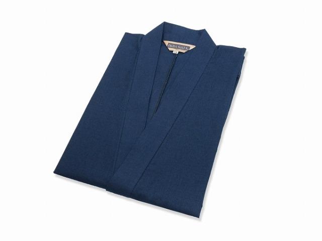 綿麻インディゴ染作務衣