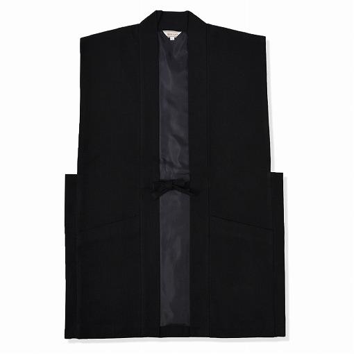 小柄ドビー刺子羽織 2番色 黒