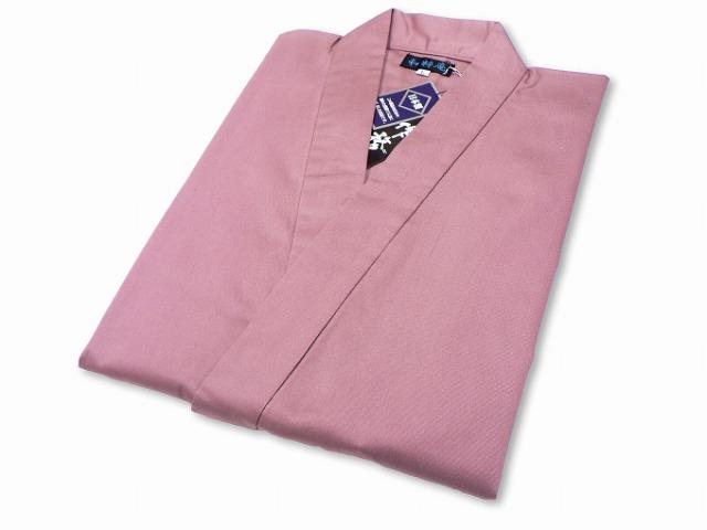綾織作務衣 ピンク