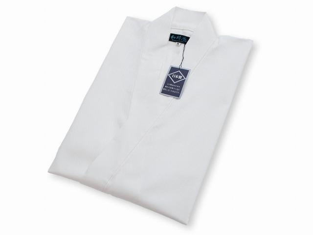 綾織作務衣 白