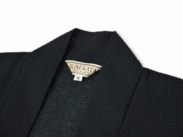 綿麻しじら羽織 黒