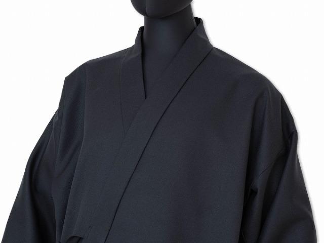 T/C裏綿二重織作務衣 No.4 黒
