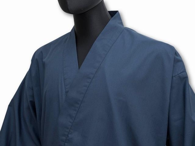 多機能袖裾ゴム式作務衣 濃紺