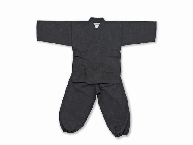 子供用絣紬作務衣